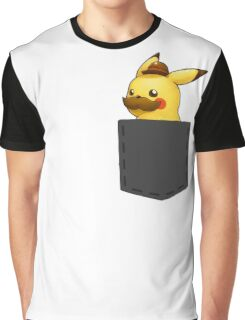 Pokemon - Pikachu with mustache in pocket Graphic T-Shirt