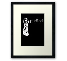 Purity Seal (Dark Backround) Framed Print