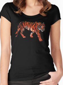 tiger painting Women's Fitted Scoop T-Shirt