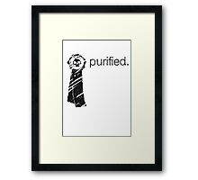 Purity Seal (Light Background) Framed Print