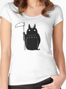Mary Death - Totoro Death Women's Fitted Scoop T-Shirt