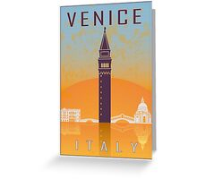 Venice vintage poster Greeting Card