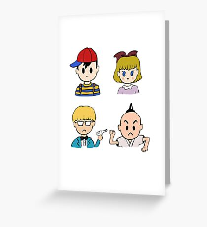 Earthbound's 4 Heroes Greeting Card