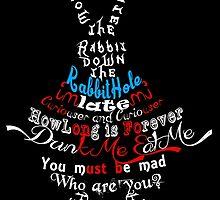 White Rabbit by AllMadDesigns