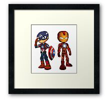 Captain America vs Iron Man Framed Print