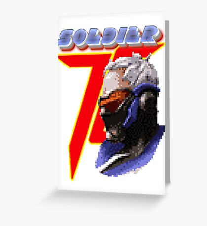 Soldier Miami 16 bits Greeting Card