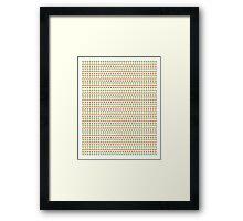 Changing Seasons (Emoji Pattern) Framed Print