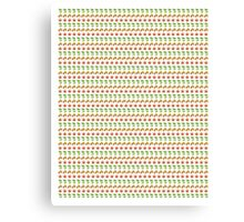 Changing Seasons (Emoji Pattern) Canvas Print