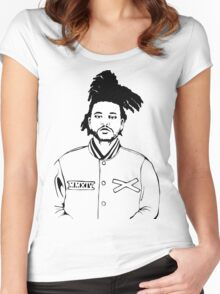 The weeknd 9 Women's Fitted Scoop T-Shirt