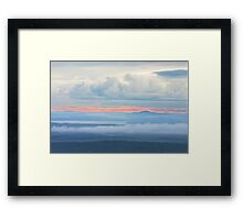 Blue Hill from Cadillac Mountain Acadia National Park Framed Print