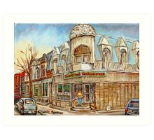 MONTREAL BEST SELLING PRINTS CONNIE'S PIZZA VERDUN STREET SCENE Art Print