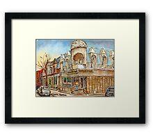 MONTREAL BEST SELLING PRINTS CONNIE'S PIZZA VERDUN STREET SCENE Framed Print