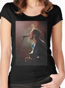 Coldplay Chris Martin Women's Fitted Scoop T-Shirt