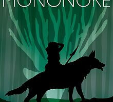Princess Mononoke Movie Poster by cheryldesigns