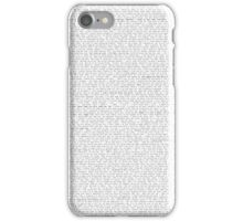 Sanvers transcript iPhone Case/Skin