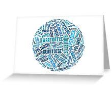 Water types. Greeting Card