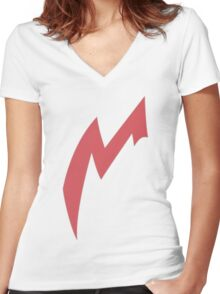 Zangoose Stripe Women's Fitted V-Neck T-Shirt