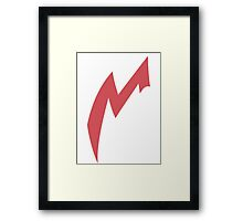 Zangoose Stripe Framed Print