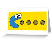 Cookie Monster Pacman Greeting Card