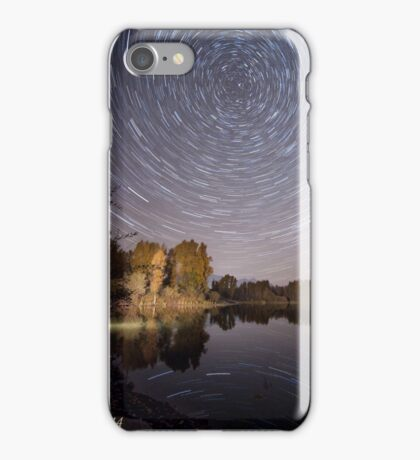 Startrails over Jackson Hole's Newest Park iPhone Case/Skin
