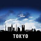 Tokyo Japan Skyline Cityscape Nightfall by T-ShirtsGifts