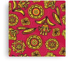 Red floral pattern Canvas Print