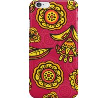 Red floral pattern iPhone Case/Skin