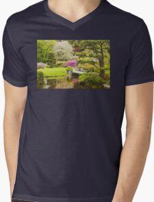 Asticou Azelea Garden Mount Desert Island Maine Mens V-Neck T-Shirt