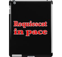 requiescat in pace quote assassin creed iPad Case/Skin