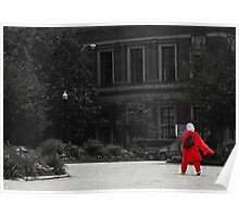 Lady in Red Photograph Poster
