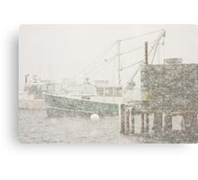 Bass Harbor in Heavy Snowstorm, Mount Desert Island, Maine Canvas Print