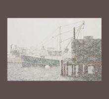 Bass Harbor in Heavy Snowstorm, Mount Desert Island, Maine T-Shirt