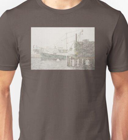 Bass Harbor in Heavy Snowstorm, Mount Desert Island, Maine Unisex T-Shirt