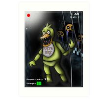 Five Night's at Freddy's - Chica Art Print