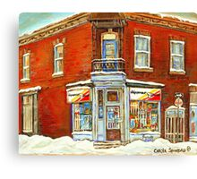BEST SELLING VERDUN MONTREAL PRINT DEPANNEUR SEPT JOURS VERDUN SNOW SCENE PAINTING Canvas Print