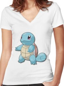 squirle Women's Fitted V-Neck T-Shirt