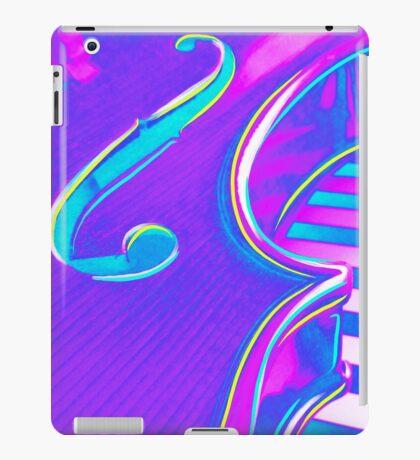 Psychedelic Violin in Pink Purple n Aqua iPad Case/Skin