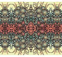Fleur Vintage pattern - antique spring Photographic Print