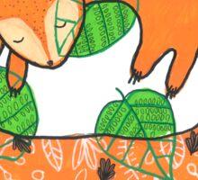 Fox Asleep Sticker
