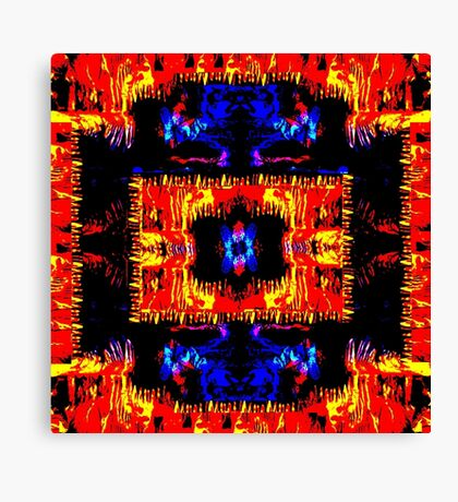 Blue and Red-1 Canvas Print