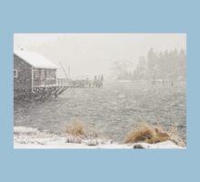 Heavy Snowstorm in Bass Harbor, Mount Desert island, Maine T-Shirt
