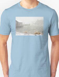 Heavy Snowstorm in Bass Harbor, Mount Desert island, Maine Unisex T-Shirt