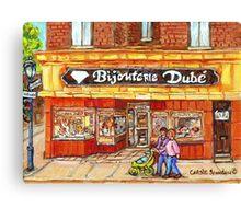 RUE WELLINGTON VERDUN CITY SCENE BIJOUTERIE DUBE BEST SELLING MONTREAL PRINTS Canvas Print