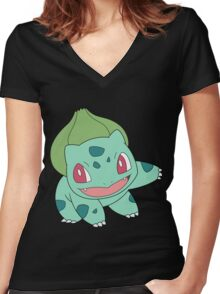 bulbasaur Women's Fitted V-Neck T-Shirt