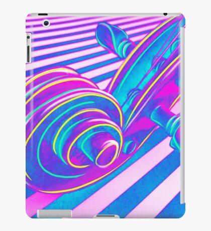 Psychedelic Scroll in Pink Purple n Aqua iPad Case/Skin