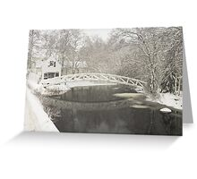 Snow Storm In Somesville Maine Photograph Greeting Card