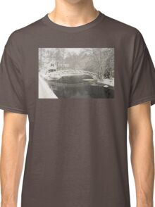 Snow Storm In Somesville Maine Photograph Classic T-Shirt