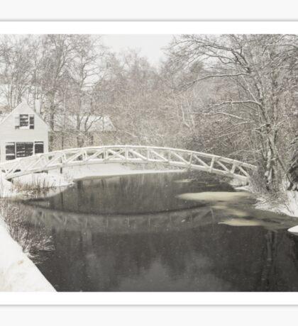 Snow Storm In Somesville Maine Photograph Sticker