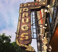 Vintage Drug Store Sign by Lagoldberg28