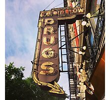 Vintage Drug Store Sign Photographic Print